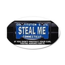 Steal My Conneticut Car Wall Decal