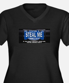 Steal My Conneticut Car Women's Plus Size V-Neck D