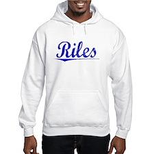 Riles, Blue, Aged Hoodie