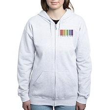 gay pride barcode Zip Hoodie