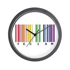 gay pride barcode Wall Clock