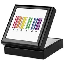 gay pride barcode Keepsake Box