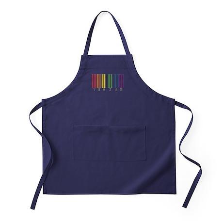 gay pride barcode Apron (dark)