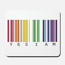 gay pride barcode Mousepad