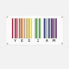 gay pride barcode Banner