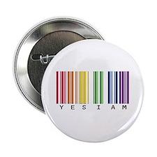 "gay pride barcode 2.25"" Button"
