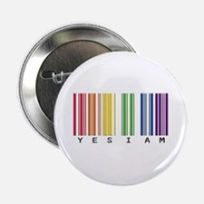 """gay pride barcode 2.25"""" Button (100 pack)"""