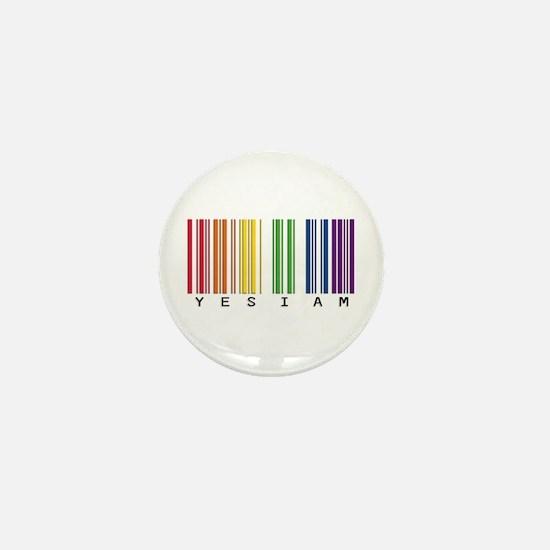 gay pride barcode Mini Button