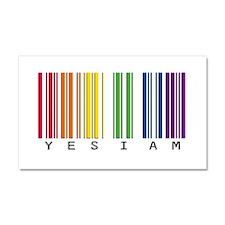 gay pride barcode Car Magnet 20 x 12