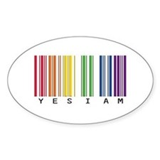 gay pride barcode Decal