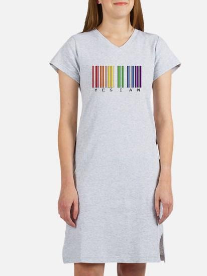 gay pride barcode Women's Nightshirt