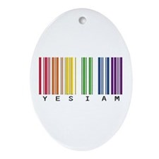 gay pride barcode Ornament (Oval)
