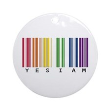 gay pride barcode Ornament (Round)