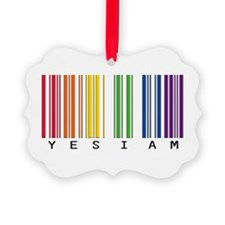 gay pride barcode Ornament