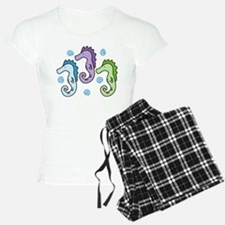 Three Seahorses Pajamas