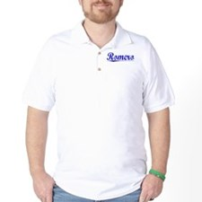 Romero, Blue, Aged T-Shirt