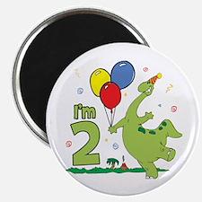 Dino 2nd Birthday Magnet