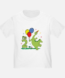 Dino 2nd Birthday T