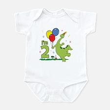 Dino 2nd Birthday Infant Creeper