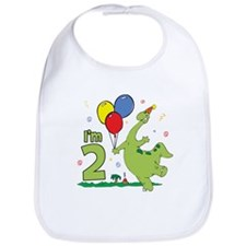 Dino 2nd Birthday Bib