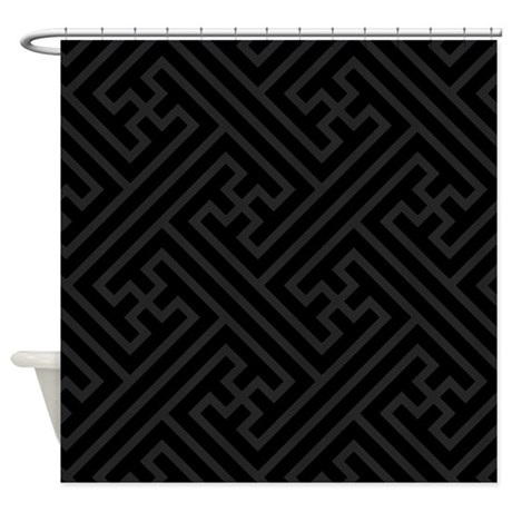 Black And Grey Shower Curtain By Justshowercurtains