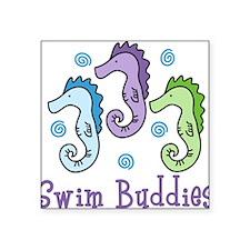 "Swim Buddies Square Sticker 3"" x 3"""