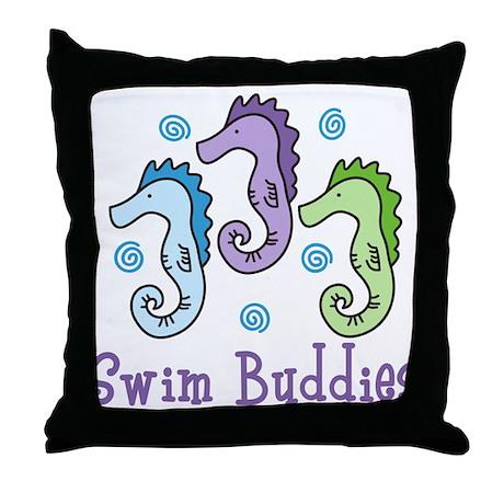 Swim Buddies Throw Pillow