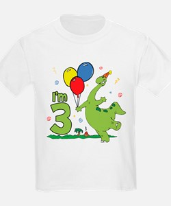 Dino 3rd Birthday Kids T-Shirt
