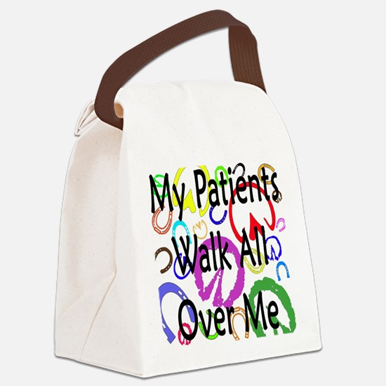 My Patients Walk All Over Me (Horse Hooves) Canvas