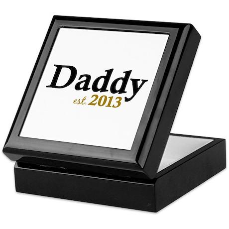 Daddy Est 2013 Keepsake Box