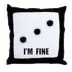 Bullet Holes Fine Throw Pillow