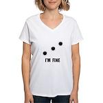 Bullet Holes Fine Women's V-Neck T-Shirt