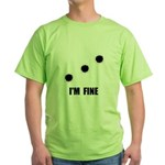 Bullet Holes Fine Green T-Shirt