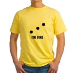 Bullet Holes Fine Yellow T-Shirt