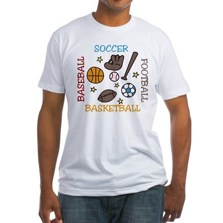 Sports Balls Fitted T-Shirt