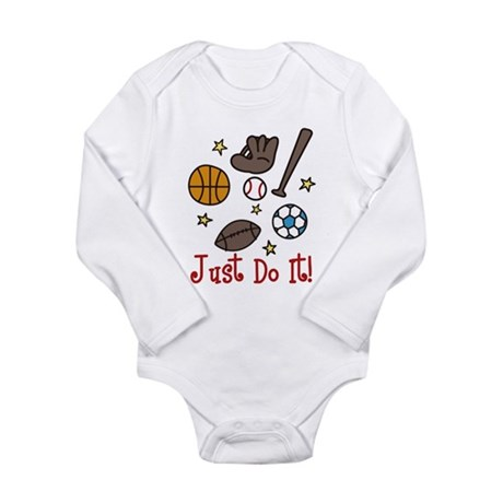 Just Do It! Long Sleeve Infant Bodysuit