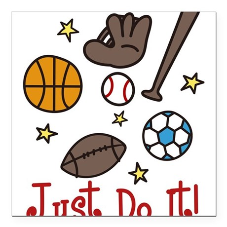 """Just Do It! Square Car Magnet 3"""" x 3"""""""