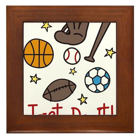 Just Do It! Framed Tile