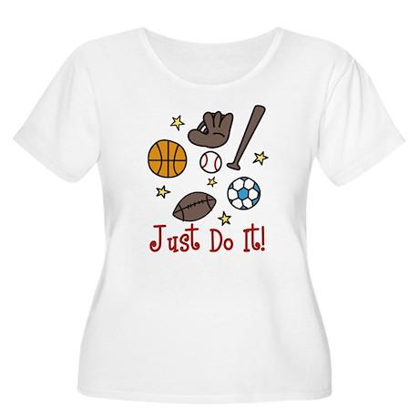 Just Do It! Women's Plus Size Scoop Neck T-Shirt