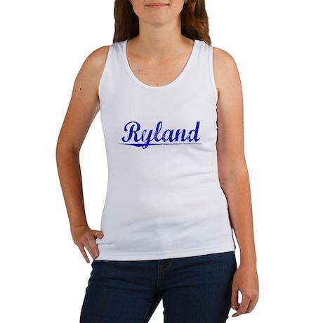 Ryland, Blue, Aged Women's Tank Top