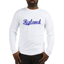 Ryland, Blue, Aged Long Sleeve T-Shirt