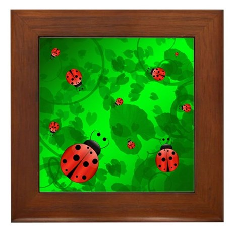 Ladybugs - Framed Tile