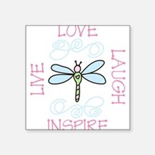 "Live Love Laugh Square Sticker 3"" x 3"""