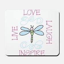 Live Love Laugh Mousepad