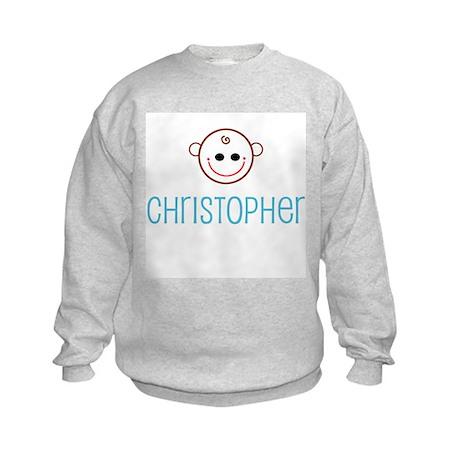 Christopher - Baby Face Kids Sweatshirt