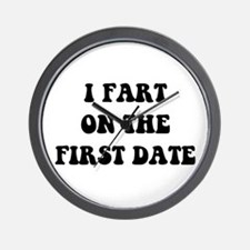 Fart On First Date Wall Clock