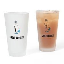 Love Boobies Drinking Glass