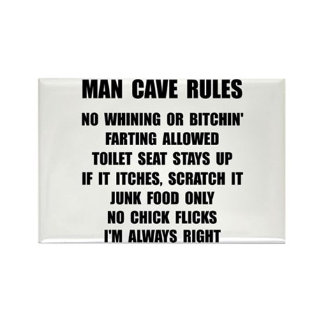 Man Cave Rules Rectangle Magnet (100 pack)