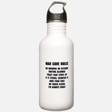 Man Cave Rules Water Bottle