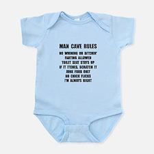 Man Cave Rules Infant Bodysuit